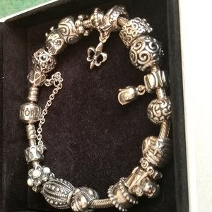 Pandora Bracelet with Charms-Sterling Silver